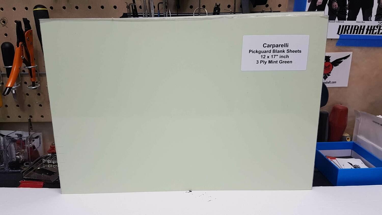 """Brio Pickguard Blanks 12"""" x 17"""" 3 Ply Mint Green"""