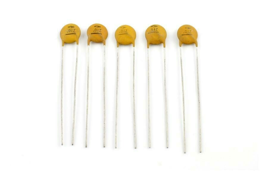 .01 MFD Ceramic Disc Capacitors pack of 5