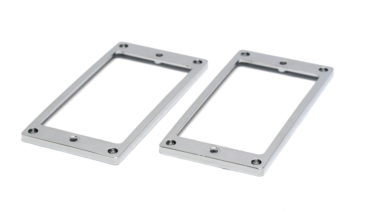 2 x Metal Humbucking Pickup Ring Set Chrome