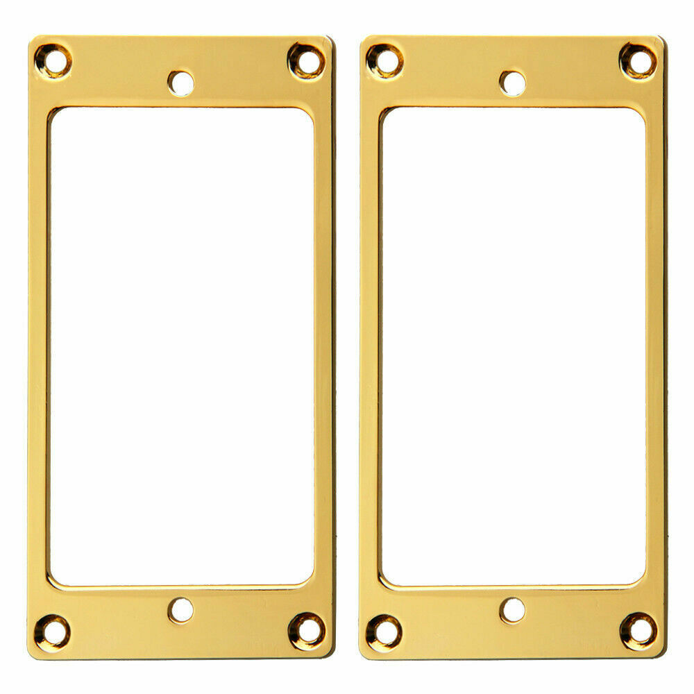 2 x Metal Humbucking Pickup Ring Set Gold