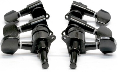 Brio 3x3 Black Locking Machine Heads Tuners 15:1 Ratio