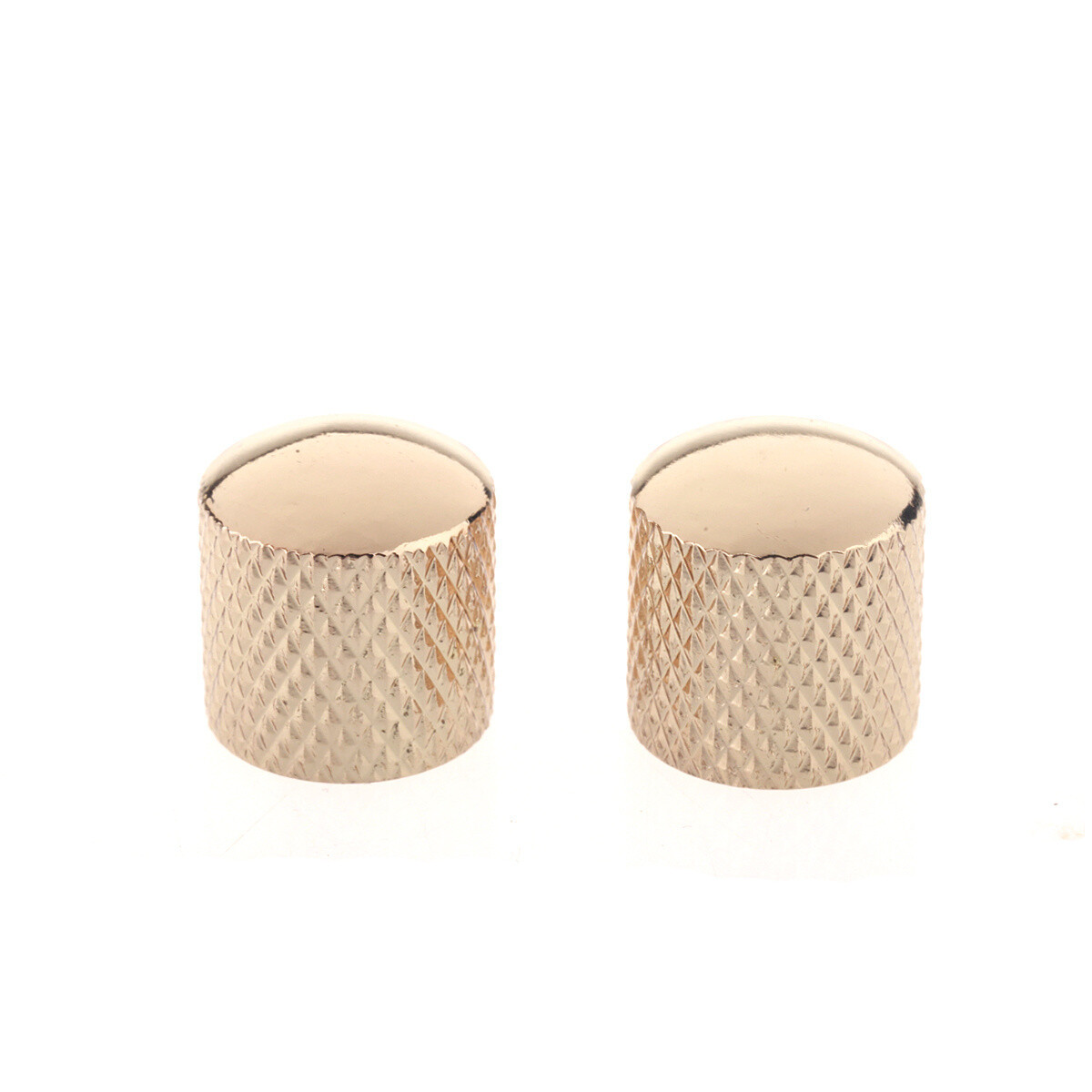 Brio Metal Dome Control Knobs - Gold Pair