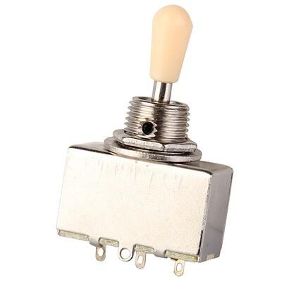 Brio 3 Way Sealed Box Toggle Switch Cream or Black Tip Metric Size