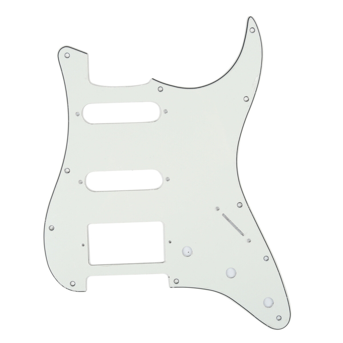 11 Hole Strat Pickguard for Fender US/Mexico Made Standard Stratocaster Modern Style, 3ply Aged White [Parchment]