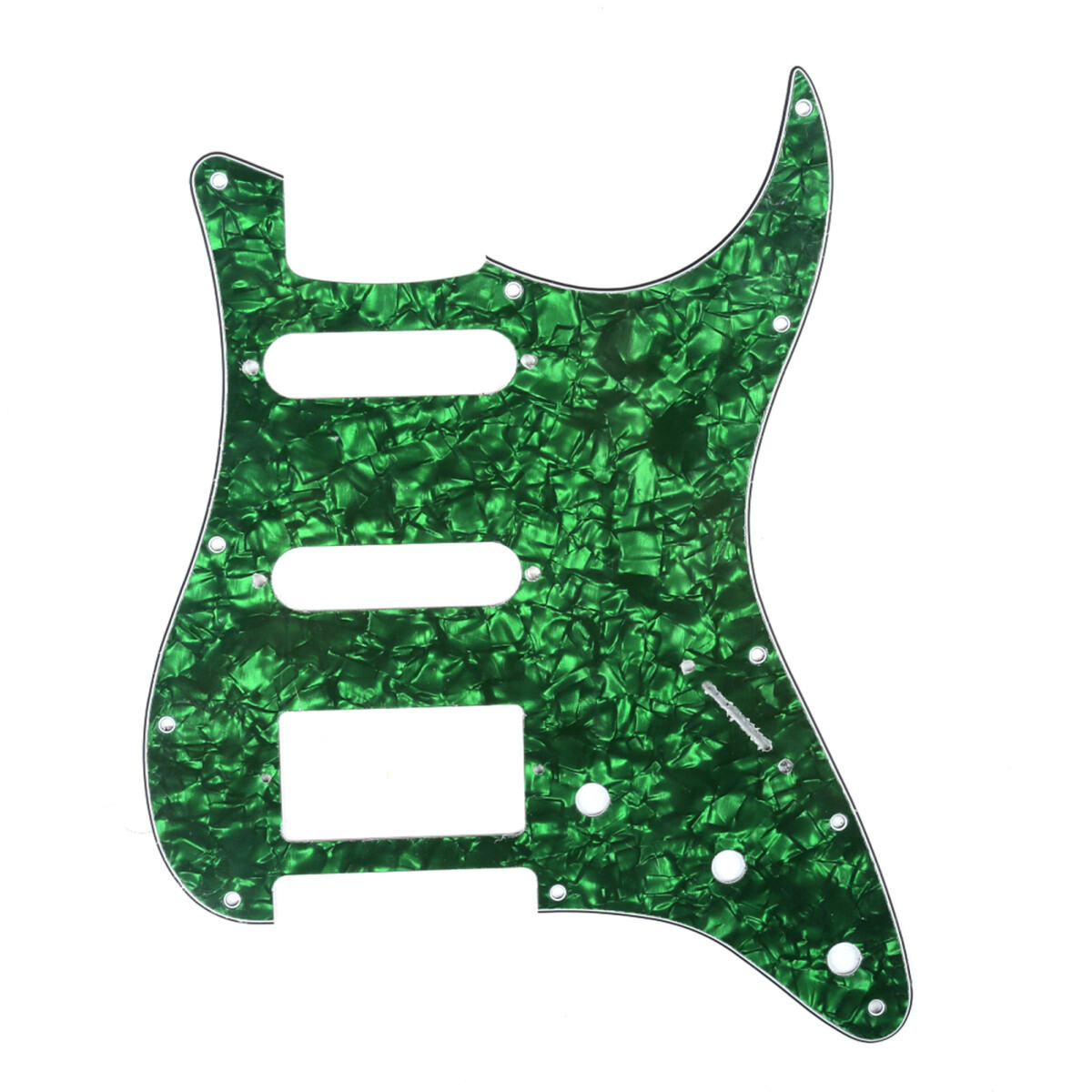 Brio 11 Hole HSS Strat® Pickguard for Fender US/Mex Made Standard Stratocaster Modern Style Pearoid Green