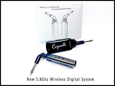 Carparelli 5.8GHz Wireless Transmission System Guitar or Bass