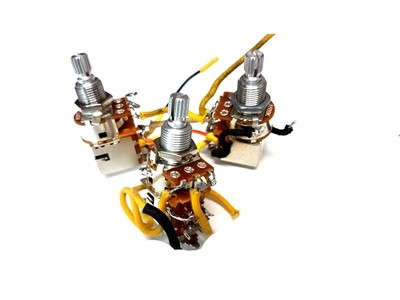 3 x USED 500K DPDT Push Pull Audio Pot