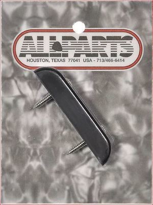 Bass Thumb-rest, Black Plastic with Screws