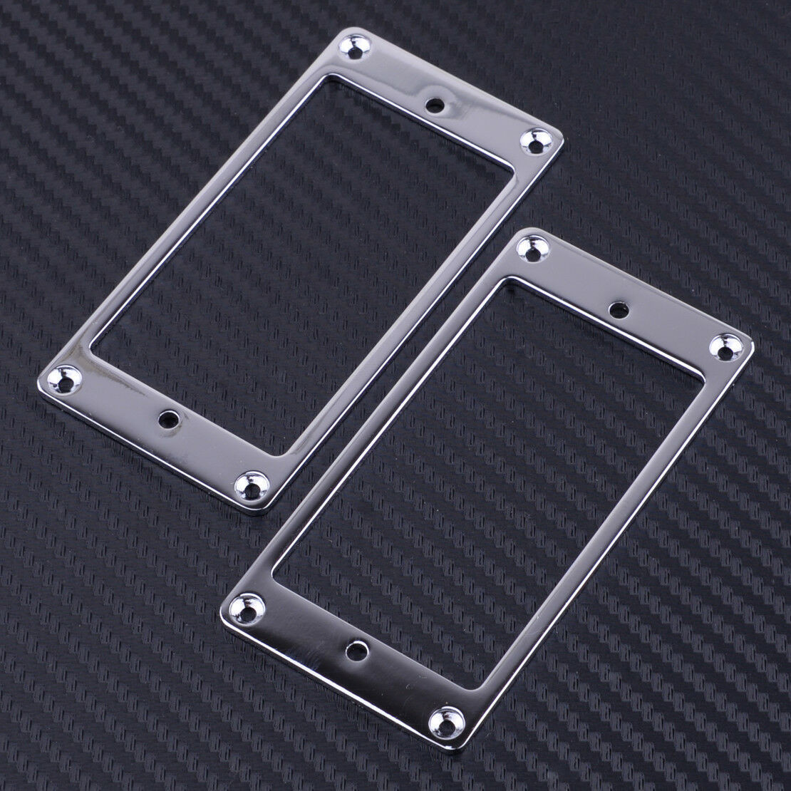 Metal Humbucking Pickup Ring Set Chrome