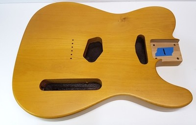 Tele Body Natural Nitro Satin 2pc Alder 4.4lbs