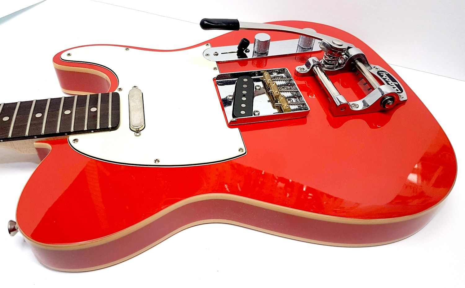 Fiesta Red Loaded Tele Body with Bigsby B5