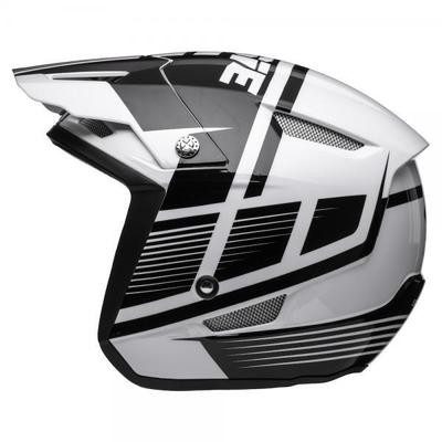 Jitsie HT1 polycarbonate Helmet White/Black-Struktur