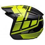 Jitsie HT1 polycarbonate Helmet Black/Fluo Yellow-Struktur