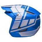 Jitsie HT1 polycarbonate Helmet Blue/White-Struktur