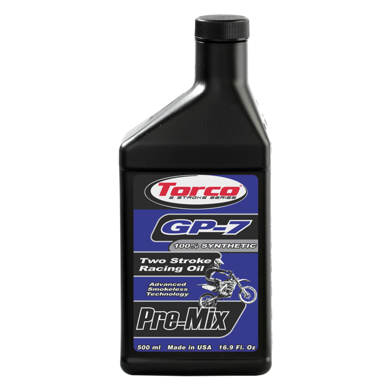 Torco GP-7 Two Stroke Racing Oil - Pre-Mix - Smokeless (1/2 Liter)