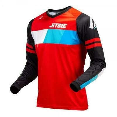 New* Jitsie l3 lines jersey black/red/blue
