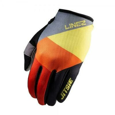New* Jitsie G2 Lines Gloves Grey/Fluo Yellow/Red