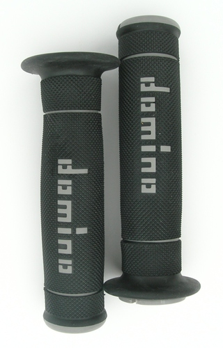 Domino Trials Grips - Black/Grey