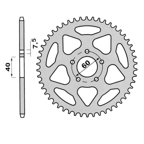Rear Sprocket - 55 Teeth - Beta Rev 50/80 (Aluminum)