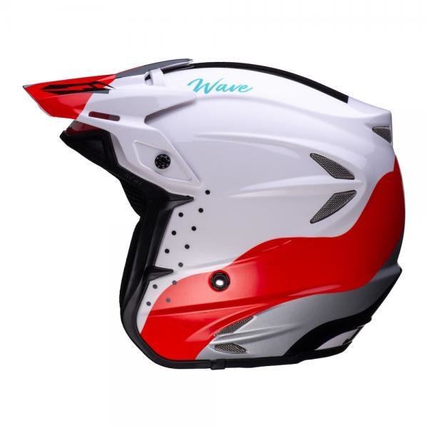 Helmet - Jitsie 'Wave' HT2 - Black/Red/White - Fiberglass