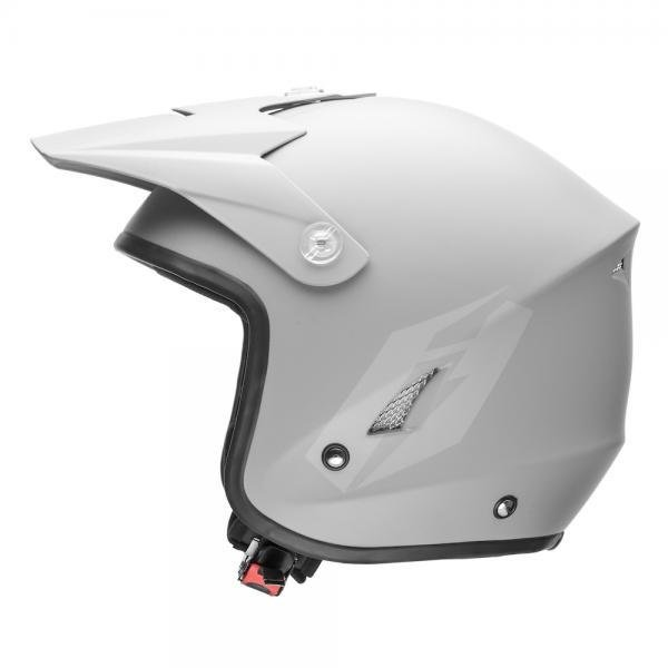 Jitsie HT1 Solid Poly-Carbonate Helmet - Matt Grey/Grey