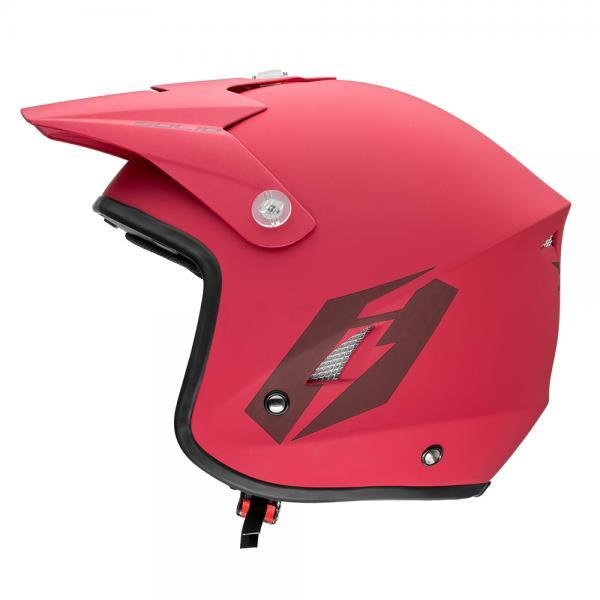 Jitsie HT1 Solid Poly-Carbonate Helmet - Matt Red/Black