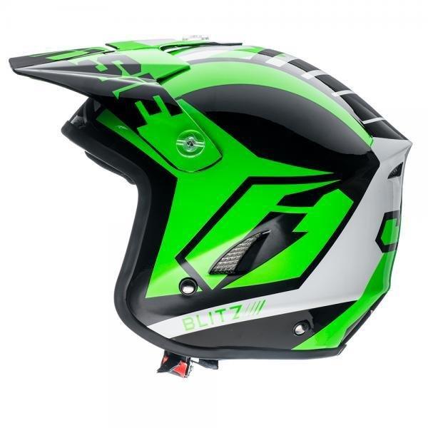 Jitsie HT1 Solid Poly-Carbonate Helmet - Black/Fluo Green
