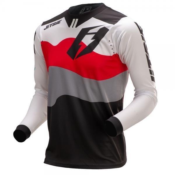 Jitsie T3 Wave Jersey Red/ White