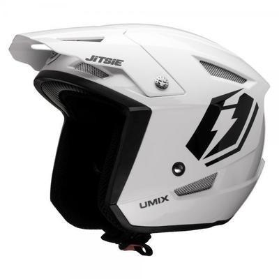 Jitsie HT1 polycarbonate Helmet White- Umix