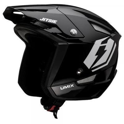 Jitsie HT1 polycarbonate Helmet Black- Umix