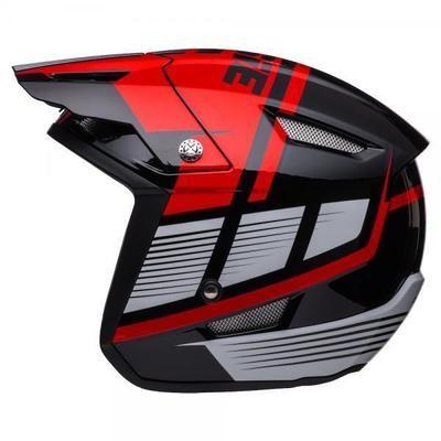 Jitsie HT1 polycarbonate Helmet Black/Red-Struktur