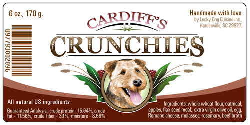Cardiff's Crunchies - Our All Natural Human Quality Cookie (WITH FOOD SHIPMENT ONLY) 1004