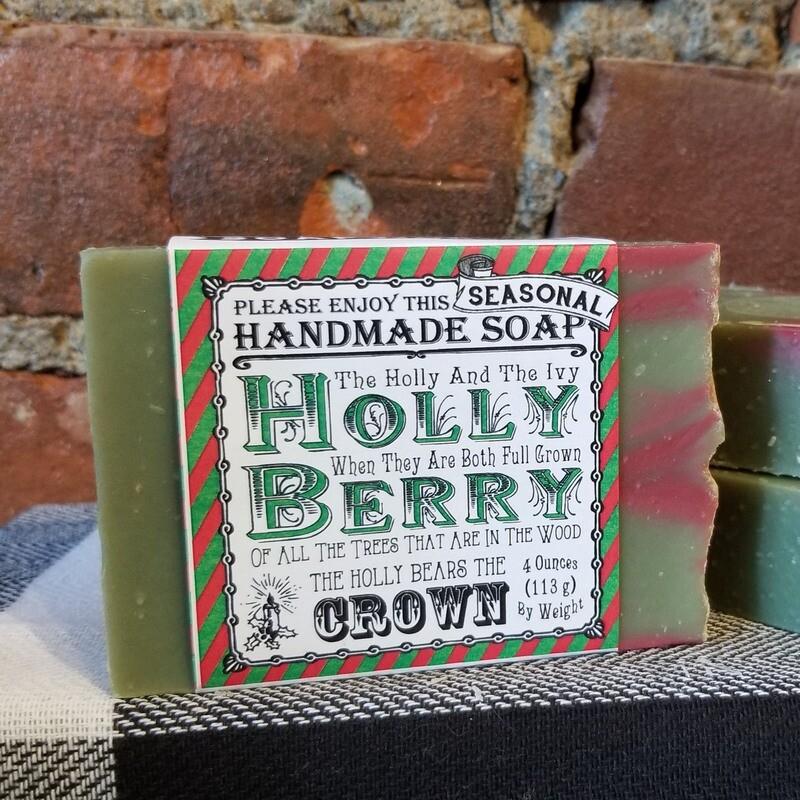 Holly Berry Handmade Soap
