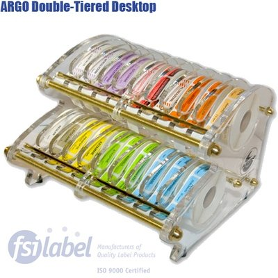 ARGO Double-Tiered Desktop Label Dispenser (26 - 1/2