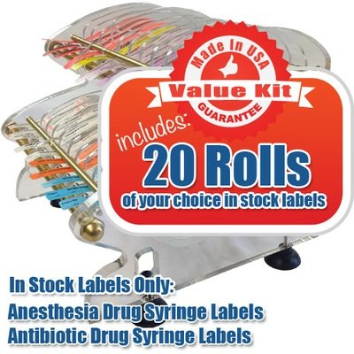 Value Kit (20 Roll) ARGO Double Tier Desktop Label Dispenser
