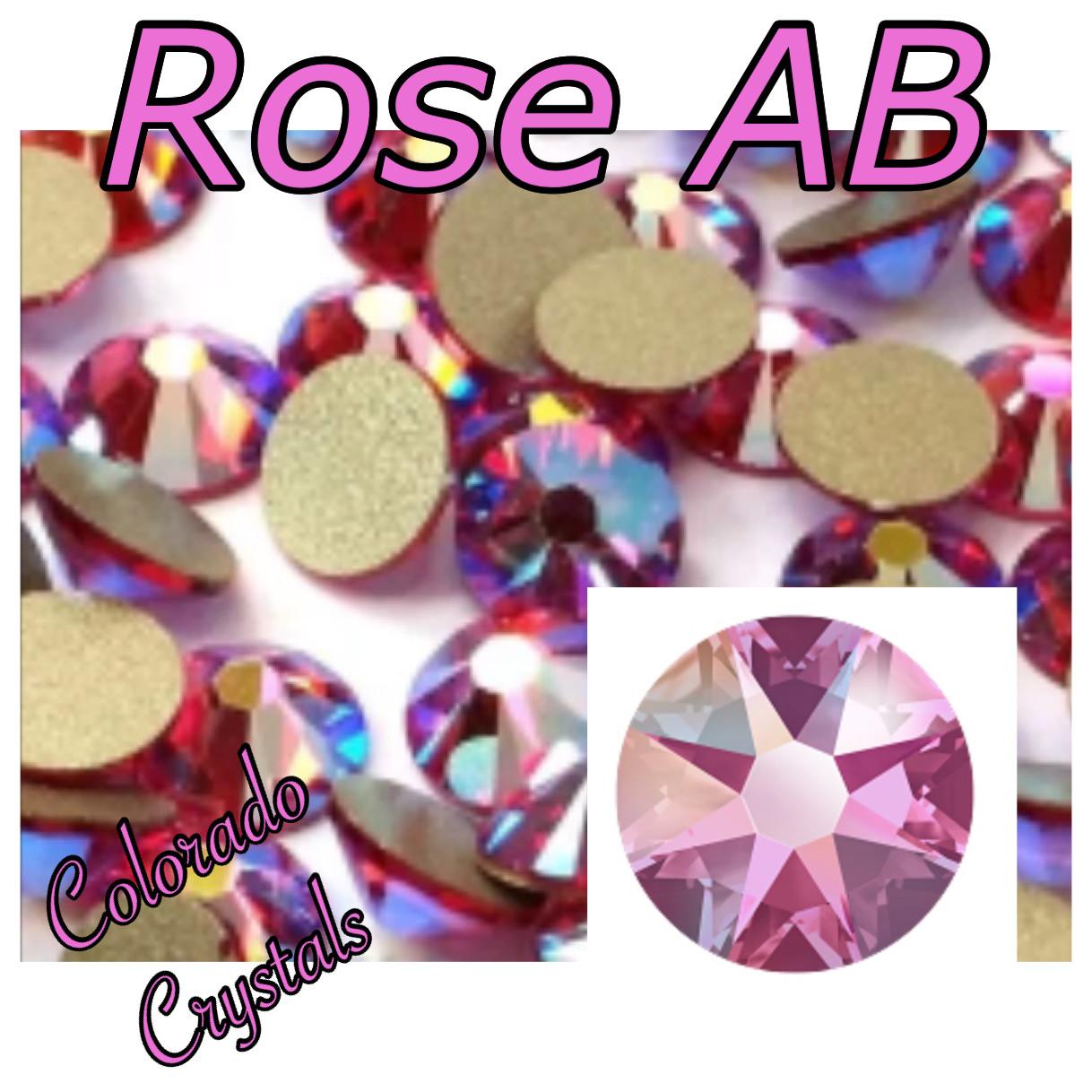 Rose AB 7ss 2058 Limited Pink Swarovski Rhinestones