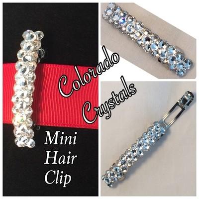 Crystal Swarovski Rhinestoned Hair Barrette Mini