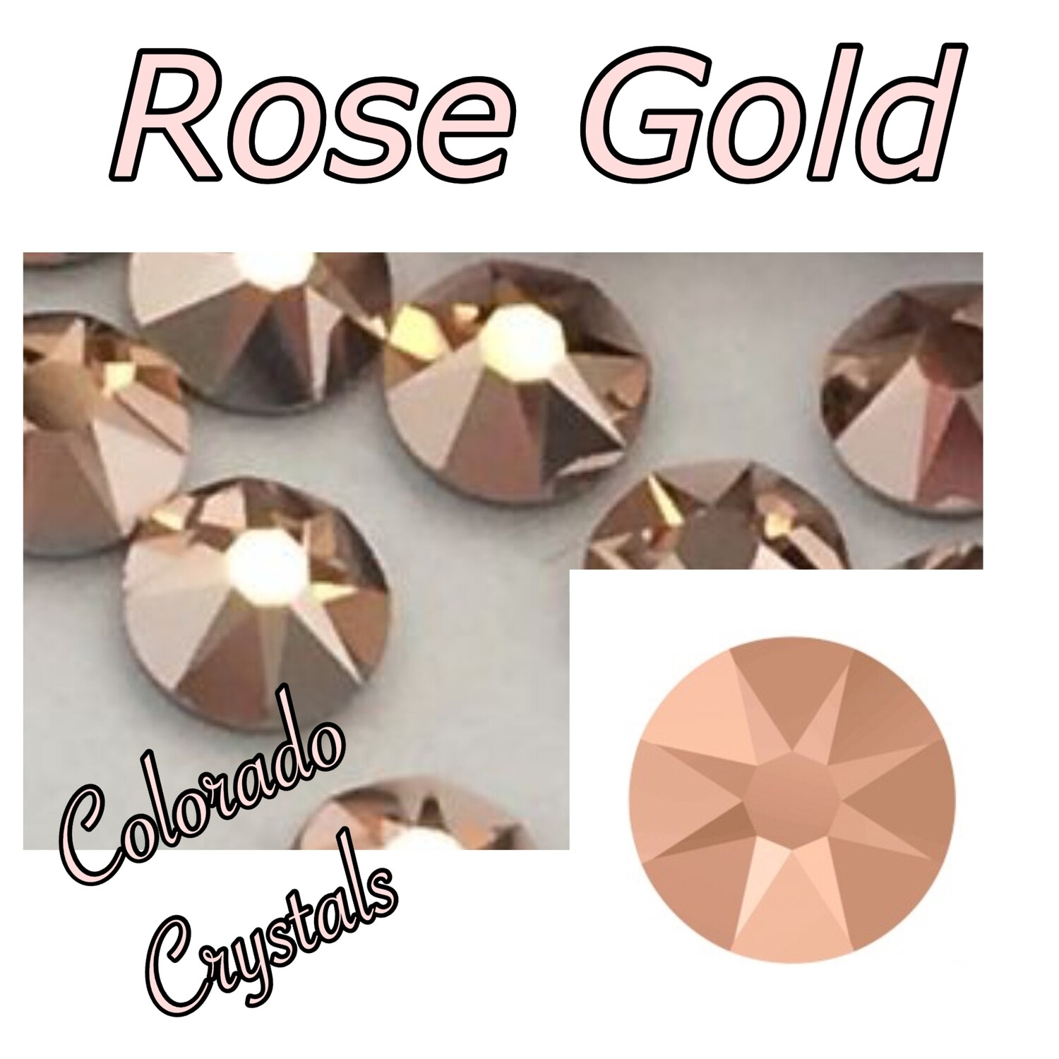 Rose Gold (Crystal) 7ss 2058 Limited Swarovski Rhinestones