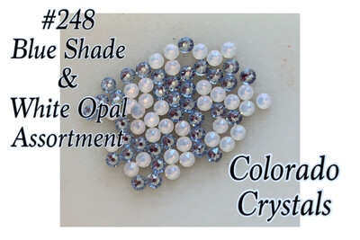 Blue Assorted Swarovski 2058 rhinestones