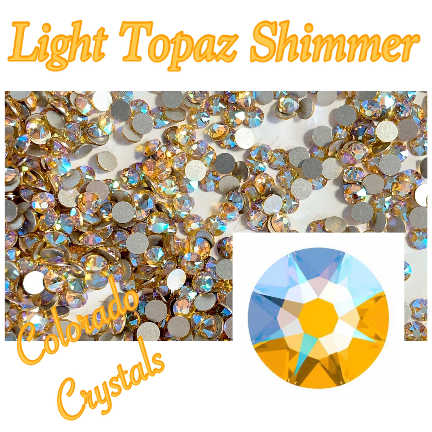 Light Topaz Shimmer 16ss 2088 Limited Swarovski