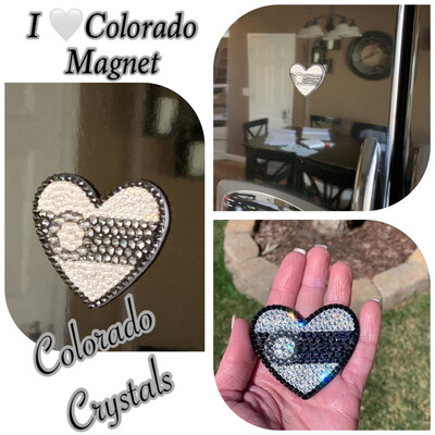 I Heart Colorado Magnet Black