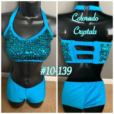 Teal Audition outfit for dance, cheer, workout etc