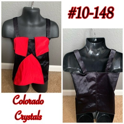 Dance Top Custom made New Black & Red Bandeau style