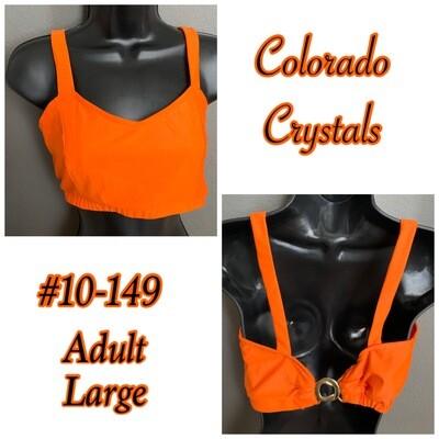Adult Orange New Dance Bra Top adjustable