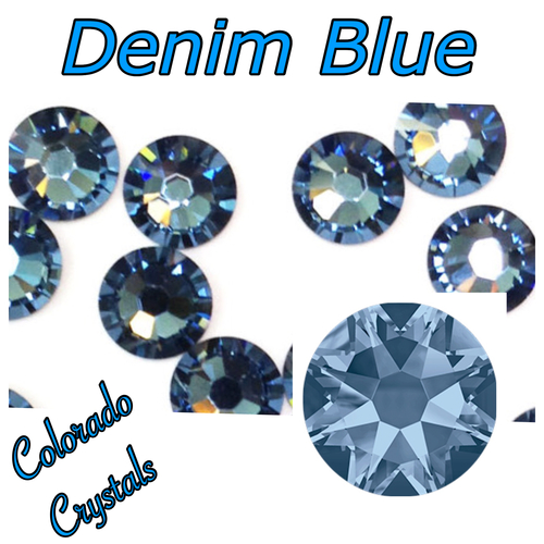 Denim Blue 9ss 2058 Limited Swarovski Rhinestones