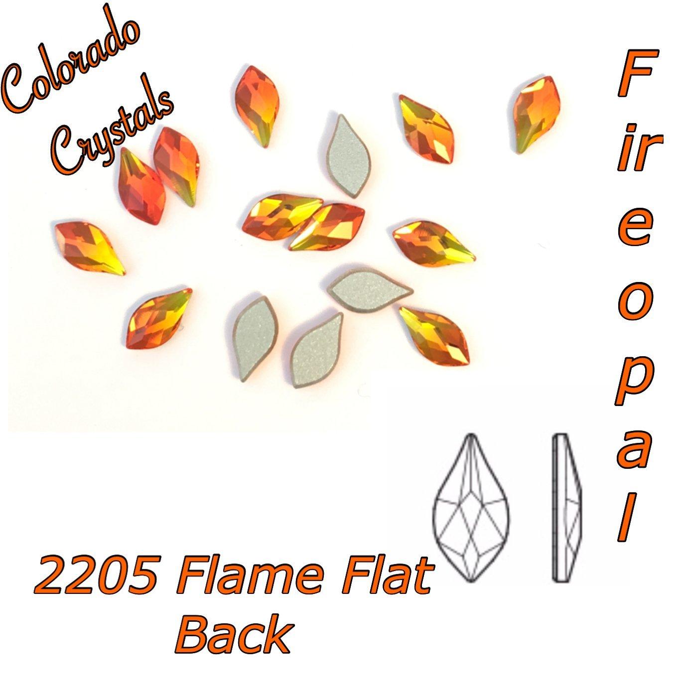 2205 Swarovski Rhinestones Flame Flat back 7.5mm Fire Opal