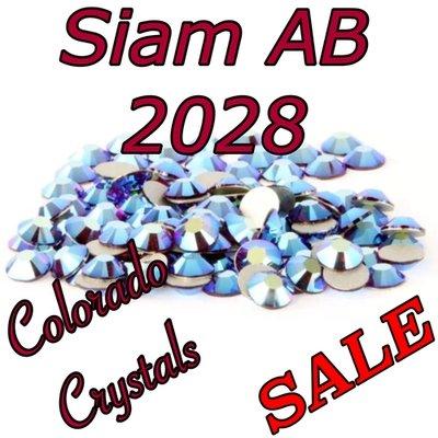 Siam AB Clearance Swarovski Flatback Rhinestones 5ss