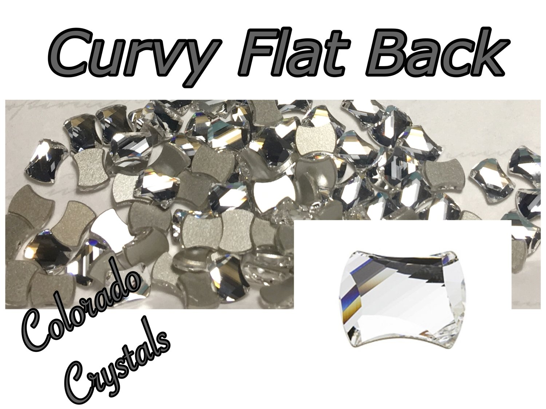 2540 Curvy Flat Back Swarovski Crystals