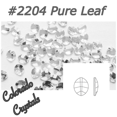 2204 Pure Leaf Swarovski Crystal Flat Back Foiled 6 X 4.8mm