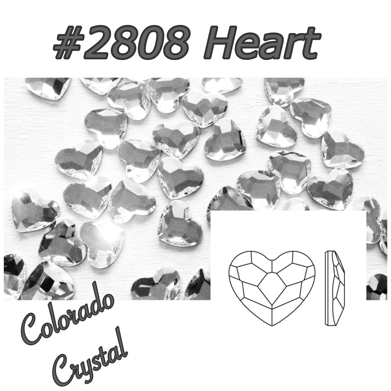 2808 Heart Swarovski Flat Back Crystal 6mm